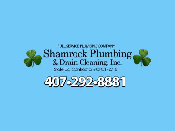 Shamrock Plumbing Amp Drain Cleaning Inc Orlando Fl