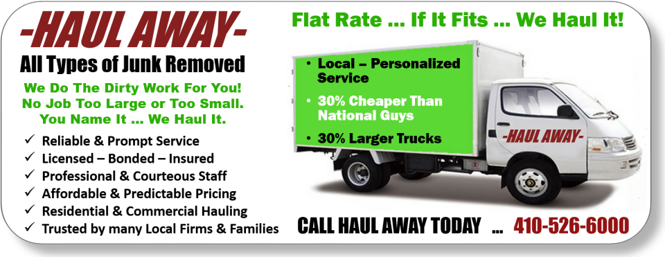 Haul Away MD | Junk Removal and Hauling in 305 Northway Ct - Reisterstown MD - Reviews - Photos - Phone Number