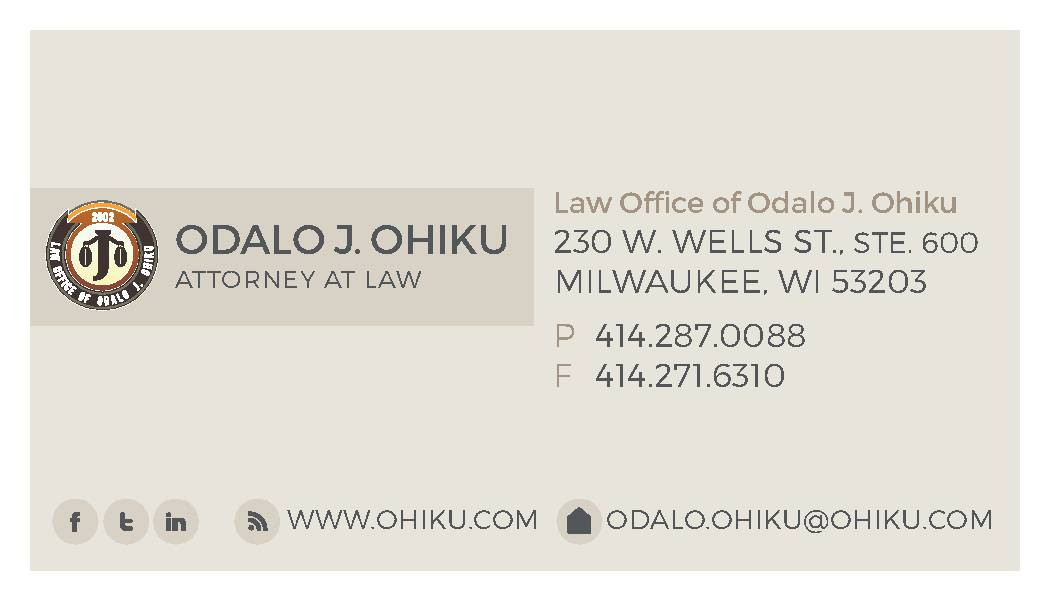 Law Office of Odalo J. Ohiku reviews | Lawyers at 633 W. Wisconsin Ave. - Milwaukee WI