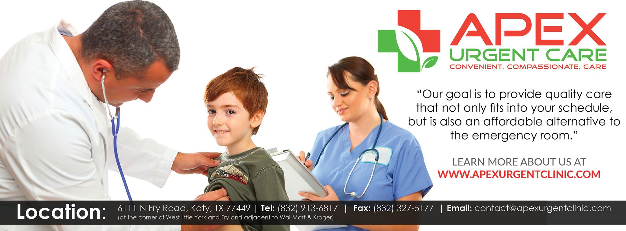 Apex Urgent Care | Urgent Care at 6111 N Fry Rd - Katy TX - Reviews - Photos - Phone Number
