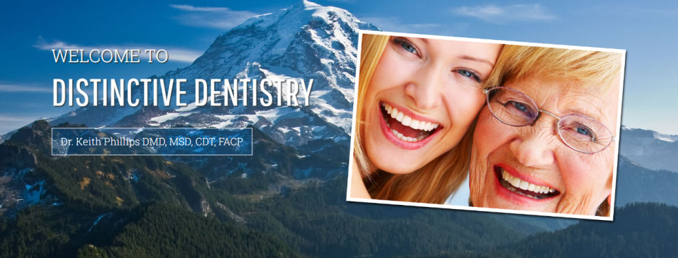 Distinctive Dentistry; Keith Phillips DMD, MSD reviews | Cosmetic Dentists at 5615 Valley Avenue East - Tacoma WA