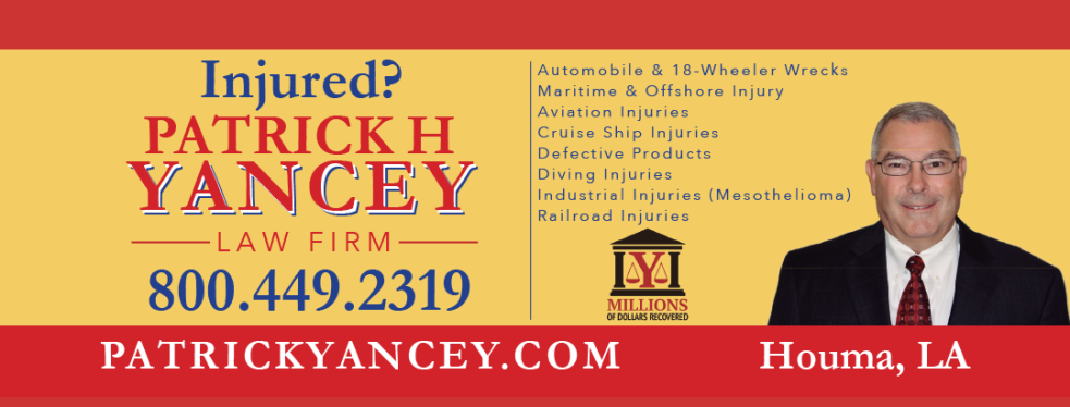 Patrick Yancey Law Firm | Personal Injury Law in 761 West Tunnel Boulevard - Houma LA - Reviews - Photos - Phone Number