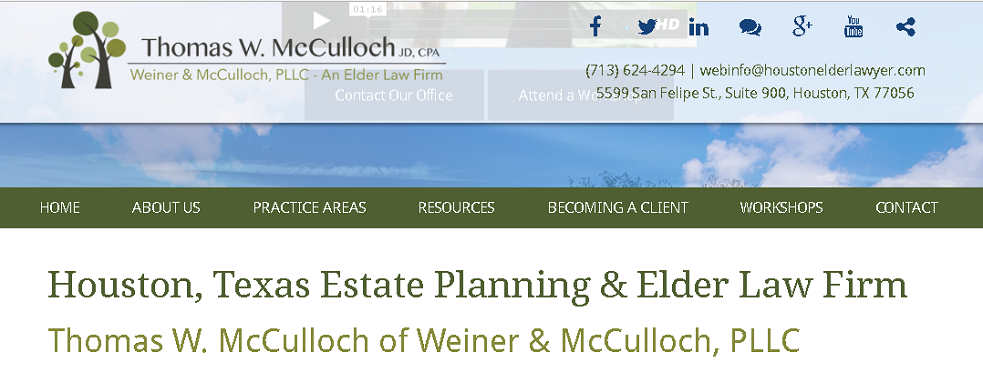 McCulloch & Miller, PLLC | Estate Planning Law at 5599 San Felipe St #900 - Houston TX - Reviews - Photos - Phone Number