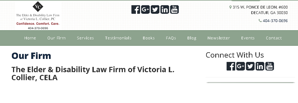 The Elder & Disability Law Firm of Victoria L. Collier, PC | Lawyers in 315 W Ponce de Leon Ave #600 - Decatur GA - Reviews - Photos - Phone Number