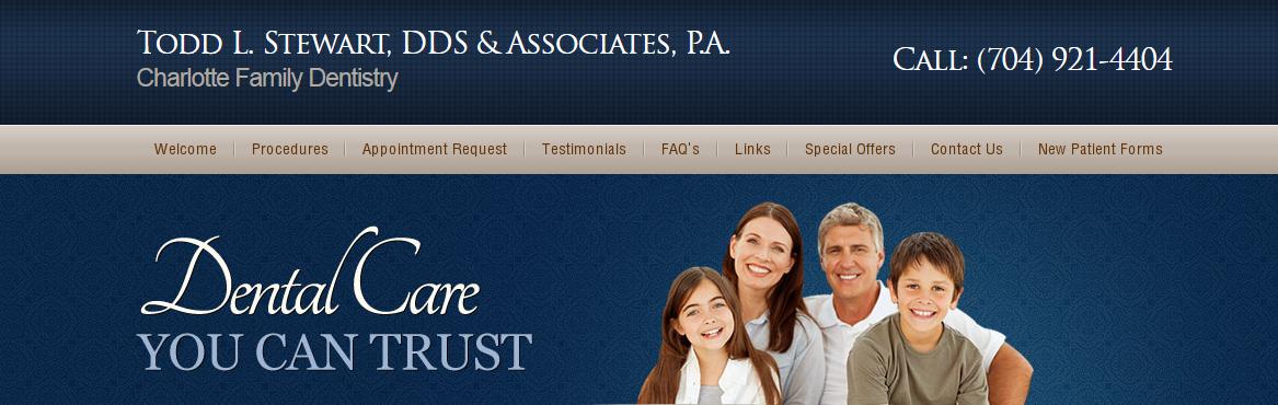 Todd L. Stewart DDS & Associates reviews   Dentists at 9739 Northlake Centre Parkway - Charlotte NC