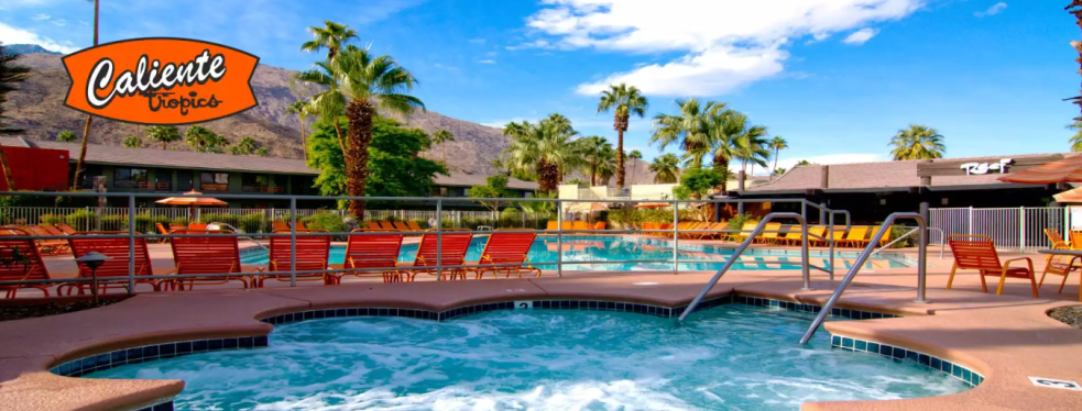 Caliente Tropics Resort Hotel reviews | Hotels at 411 E Palm Canyon Dr - Palm Springs CA