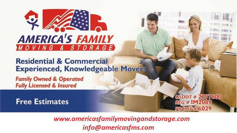 America's Family Moving And Storage reviews | Movers at 6451 E Rogers Cir Suite 11 - Boca Raton FL
