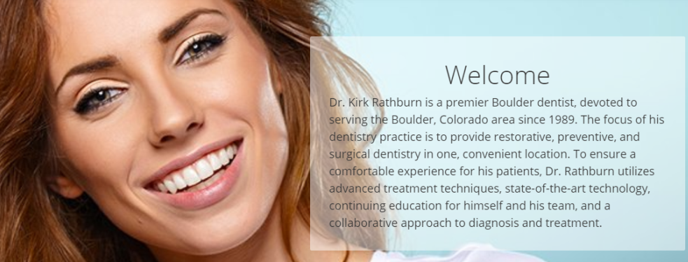 Rathburn Dental reviews | Cosmetic Dentists at 2709 Iris Ave - Boulder CO