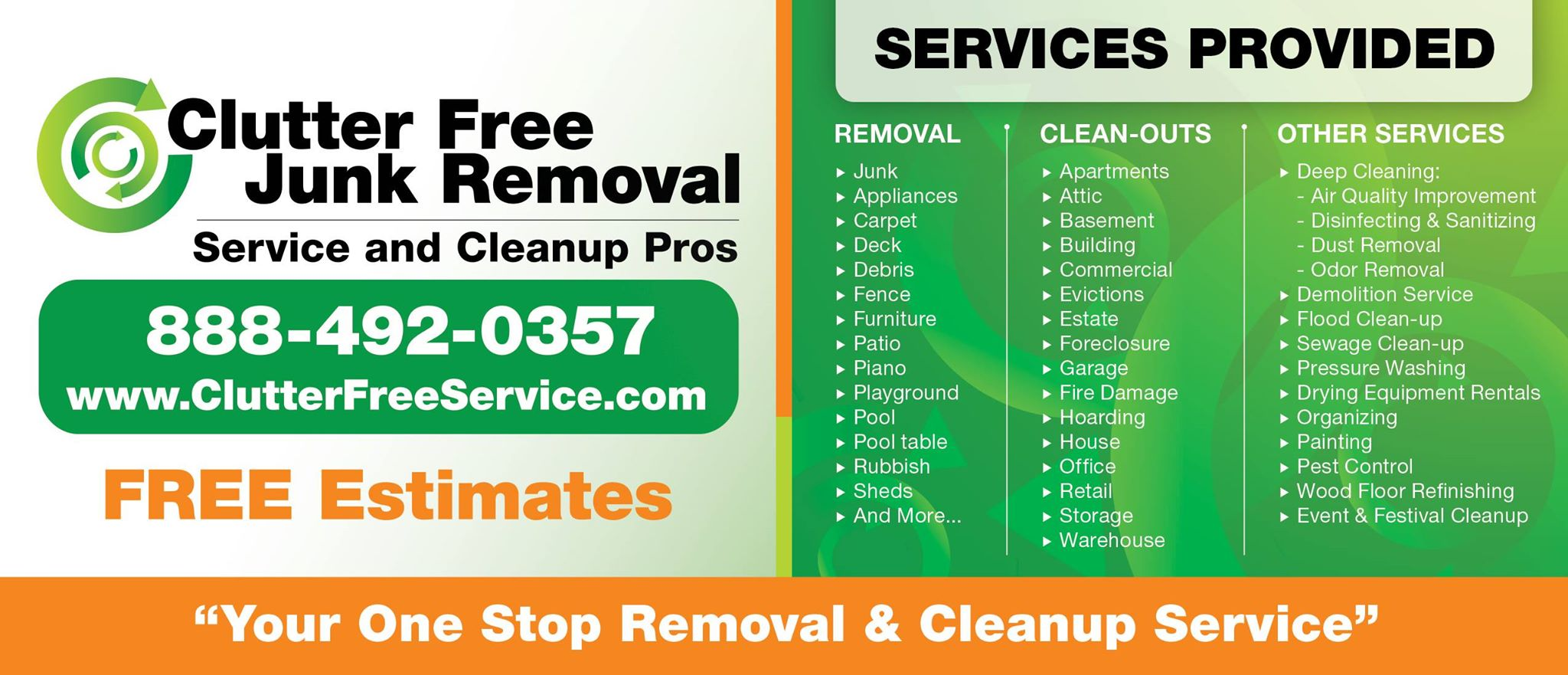 Free Junk Removal >> Clutter Free Junk Removal Service Cleanup Pros Reviews Damage