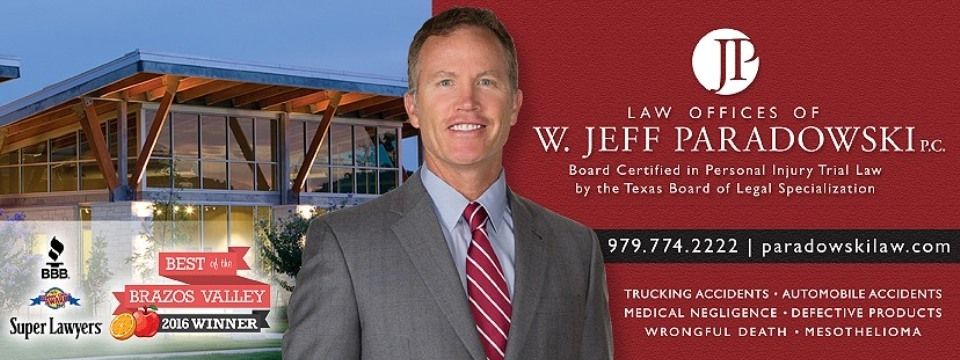 Law Offices of W. Jeff Paradowski, P.C. reviews | Lawyers at 1604 Copperfield Parkway - College Station TX