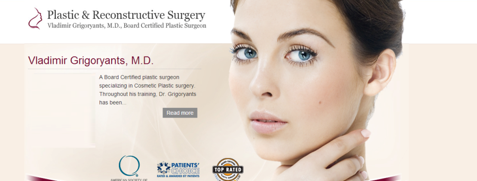 Dr. Vladimir Grigoryants, MD reviews | Cosmetic Surgeons at 1808 Verdugo Blvd suite 403 - Glendale CA