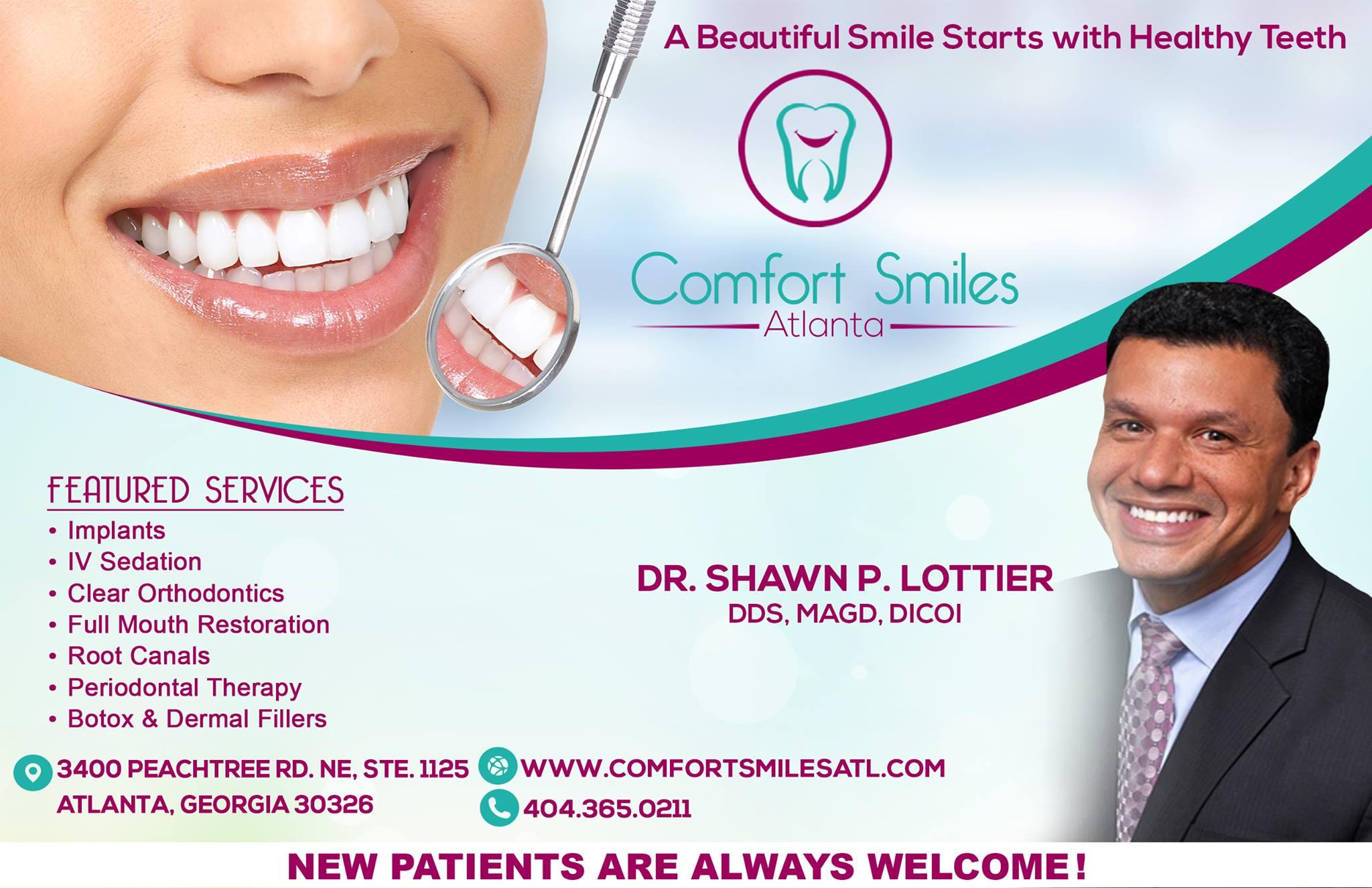 Comfort Smiles Atlanta reviews | Cosmetic Dentists at 3400 Peachtree Rd NE #1125 - Atlanta GA