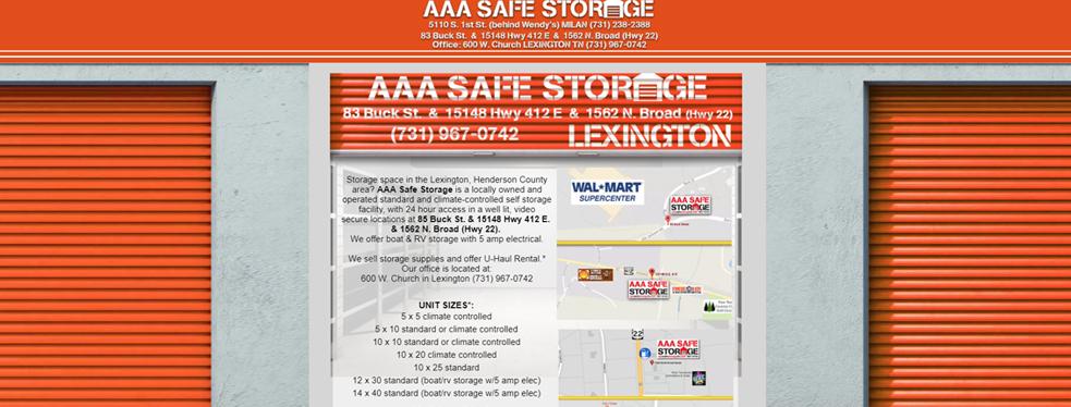 AAA Safe Storage Lexington Reviews | Arts U0026 Entertainment At 83 Buck St    Lexington TN