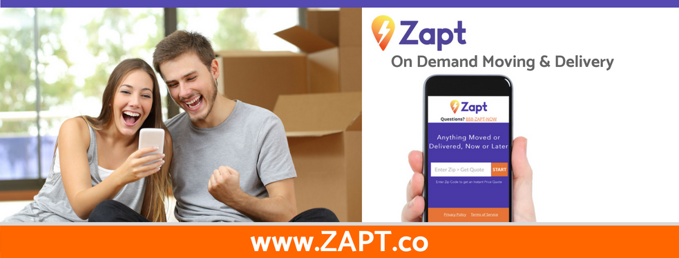 ZAPT - On Demand Moving and Delivery reviews | Advertising at Charlotte NC