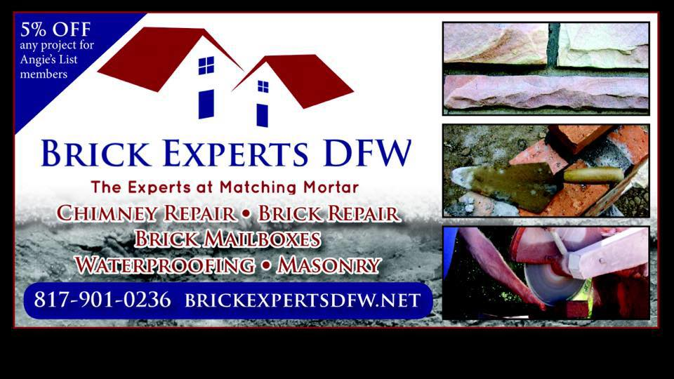 Brick Experts DFW reviews | Masonry/Concrete at 3222 Red Bird Lane - Grapevine TX