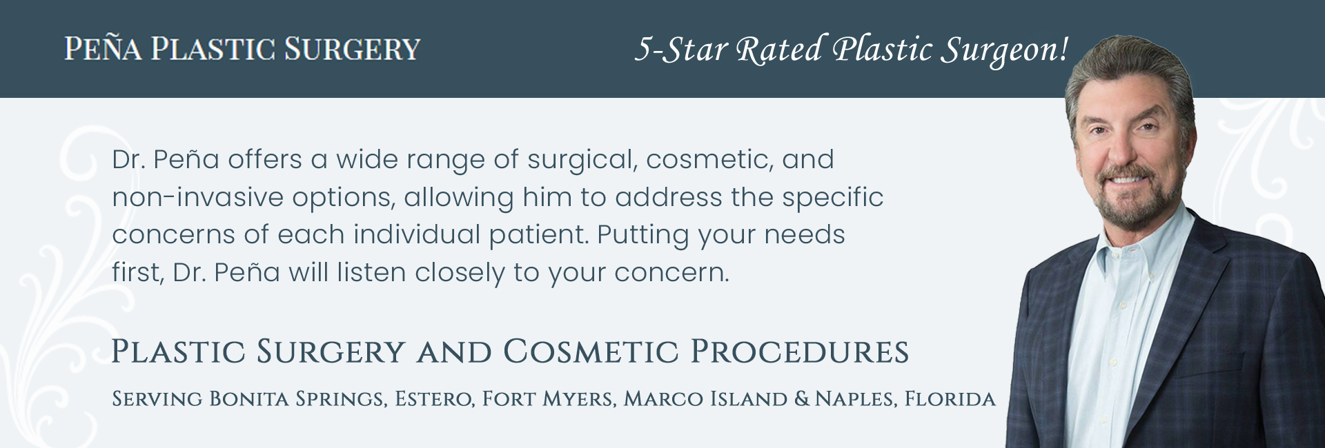Pena Plastic Surgery - Manuel Pena, MD reviews   Cosmetic Surgeons at 6370 Pine Ridge Rd - Naples FL
