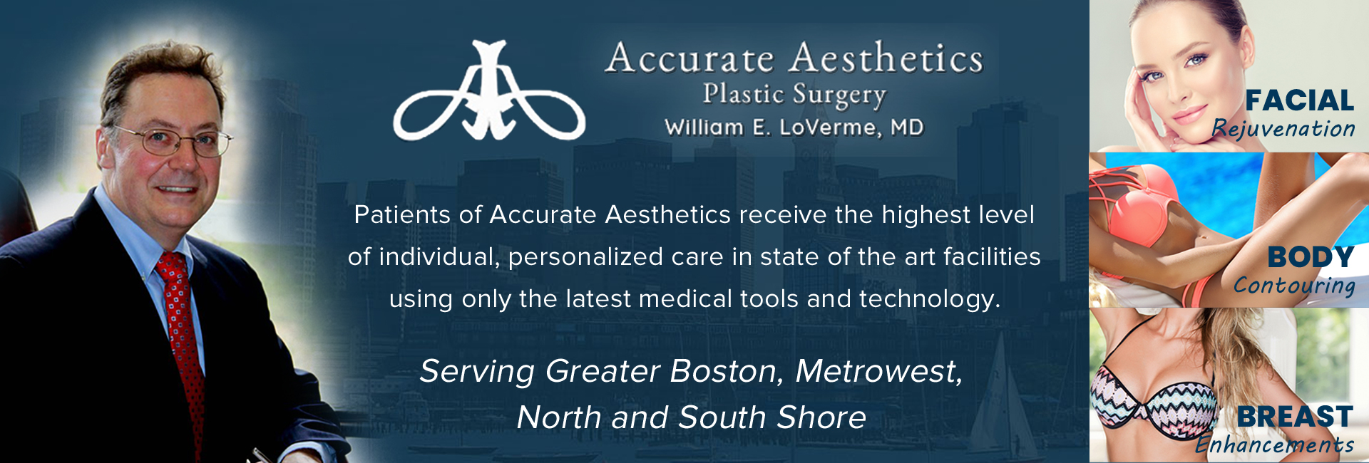 Accurate Aesthetics Plastic Surgery - William E. LoVerme, MD reviews   Plastic Surgeons at 1 Washington St #301 - Wellesley MA