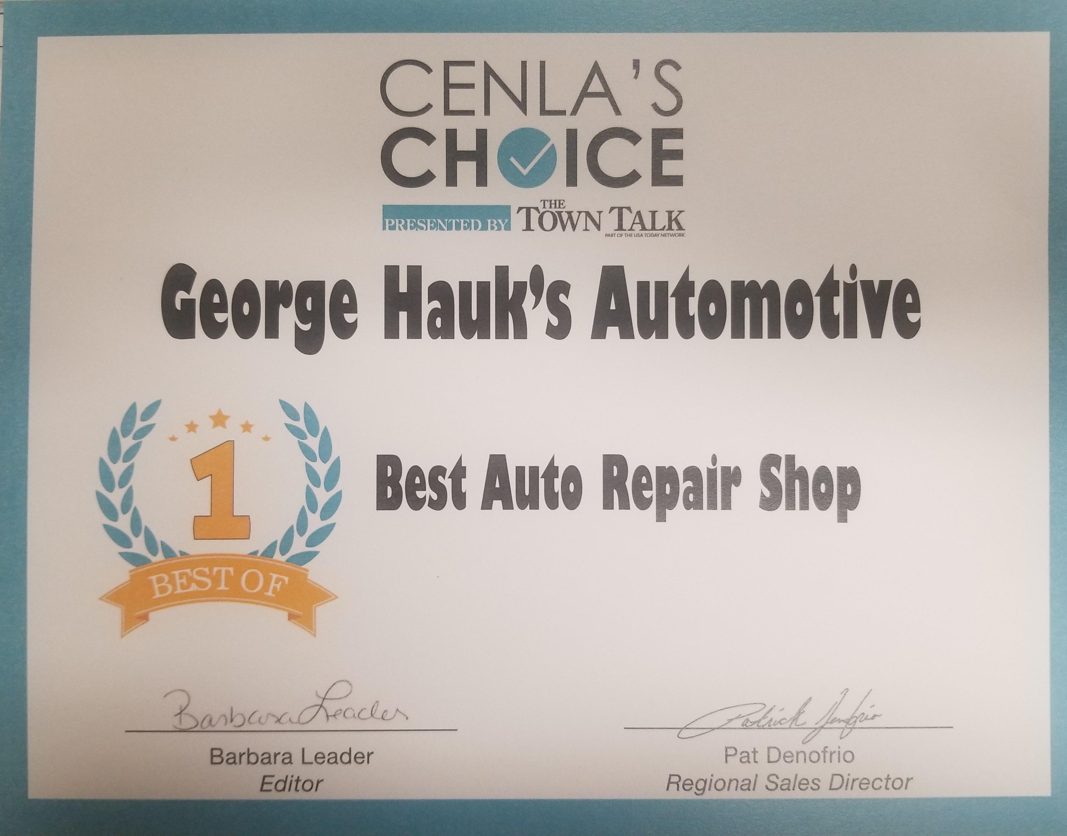 George Hauk's Automotive reviews   Auto Repair at 3204 Industrial Dr. - Alexandria LA