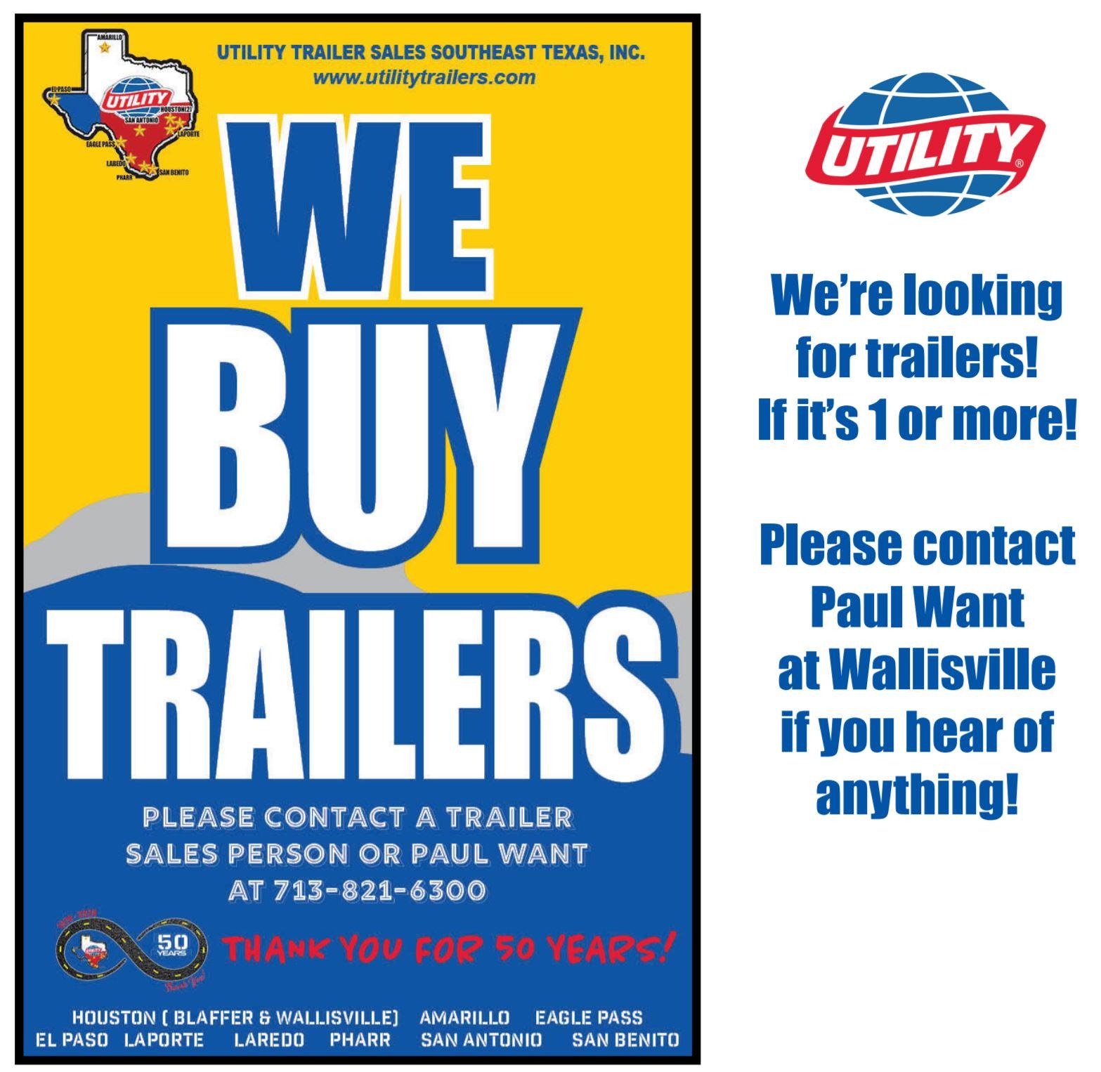 Utility Trailer Sales Southeast Texas, Inc reviews | Trailer Dealers at 615 TX-146 - La Porte TX