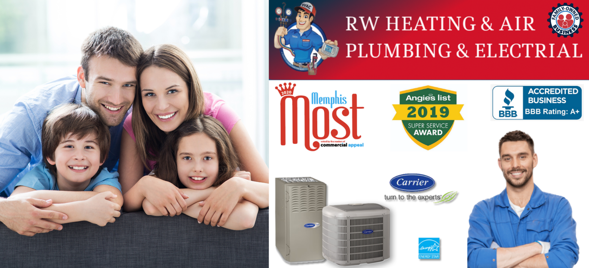 RW Heating & Air Plumbing & Electrical reviews | Heating & Air Conditioning/HVAC at 641 Old Hwy 51 North - Nesbit MS
