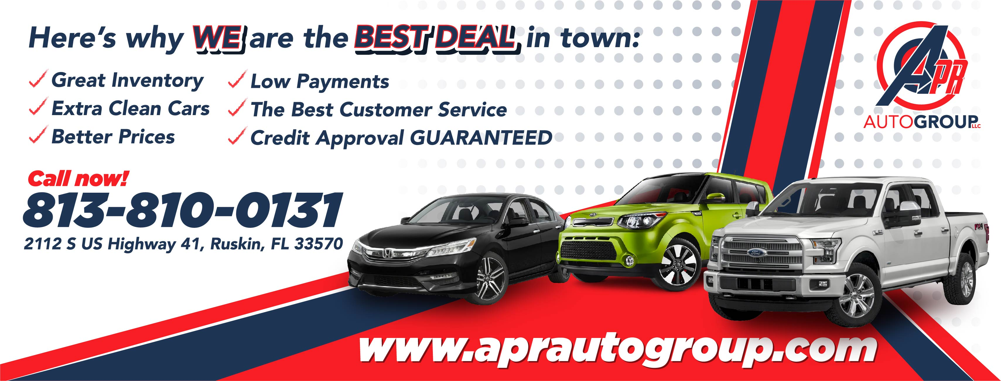 APR Auto Group LLC reviews   Used Car Dealers at 2112 S U.S. Hwy 41 - Ruskin FL