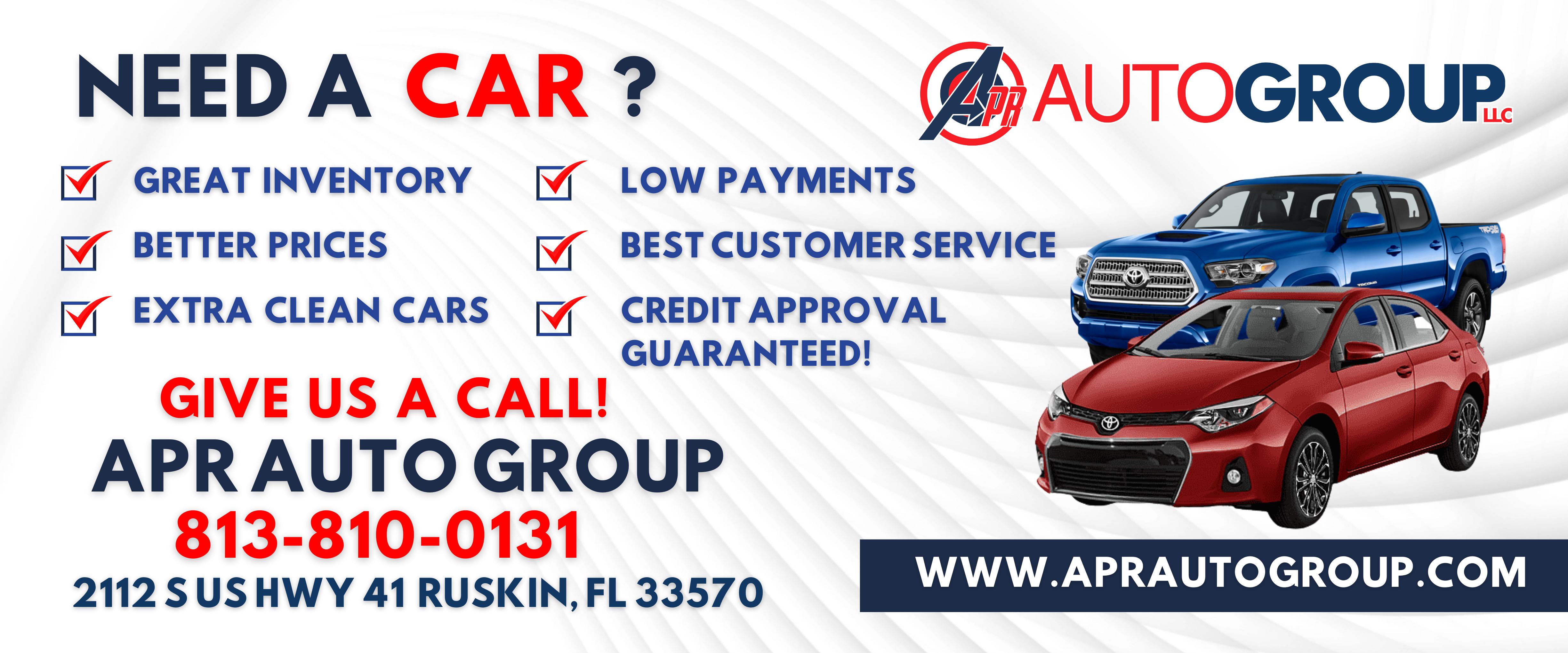 APR Auto Group LLC Reviews, Ratings | Used Car Dealers near 2112 S U.S. Hwy 41 , Ruskin FL