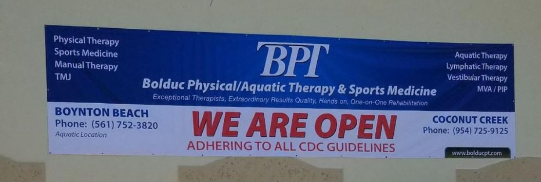 Bolduc Physical/Aquatic Therapy & Sports Medicine Reviews, Ratings   Physical Therapy near 5450 W. Hillsborough Blvd. , Coconut Creek FL